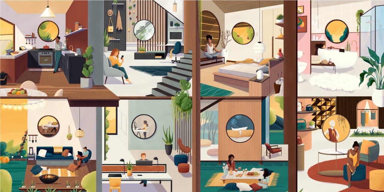 Espaços do Futuro - Ilustração: Andressa Meissner