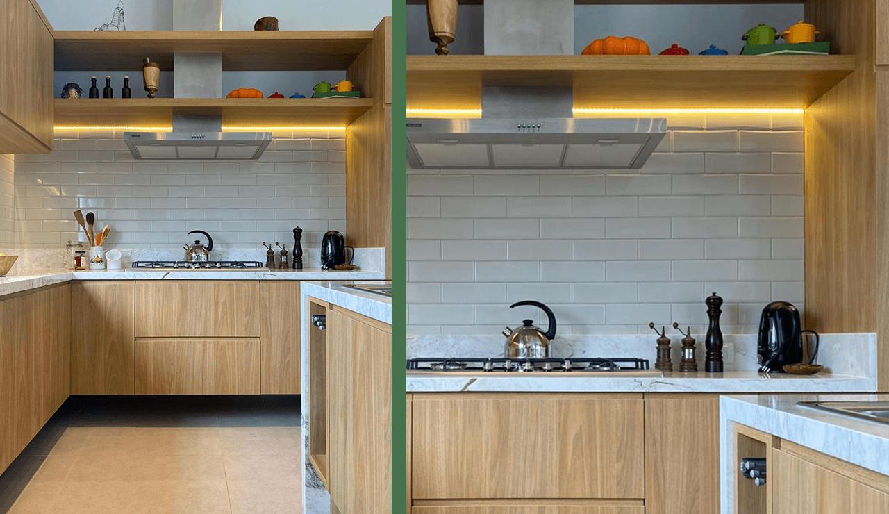 cozinha de madeira sob medida