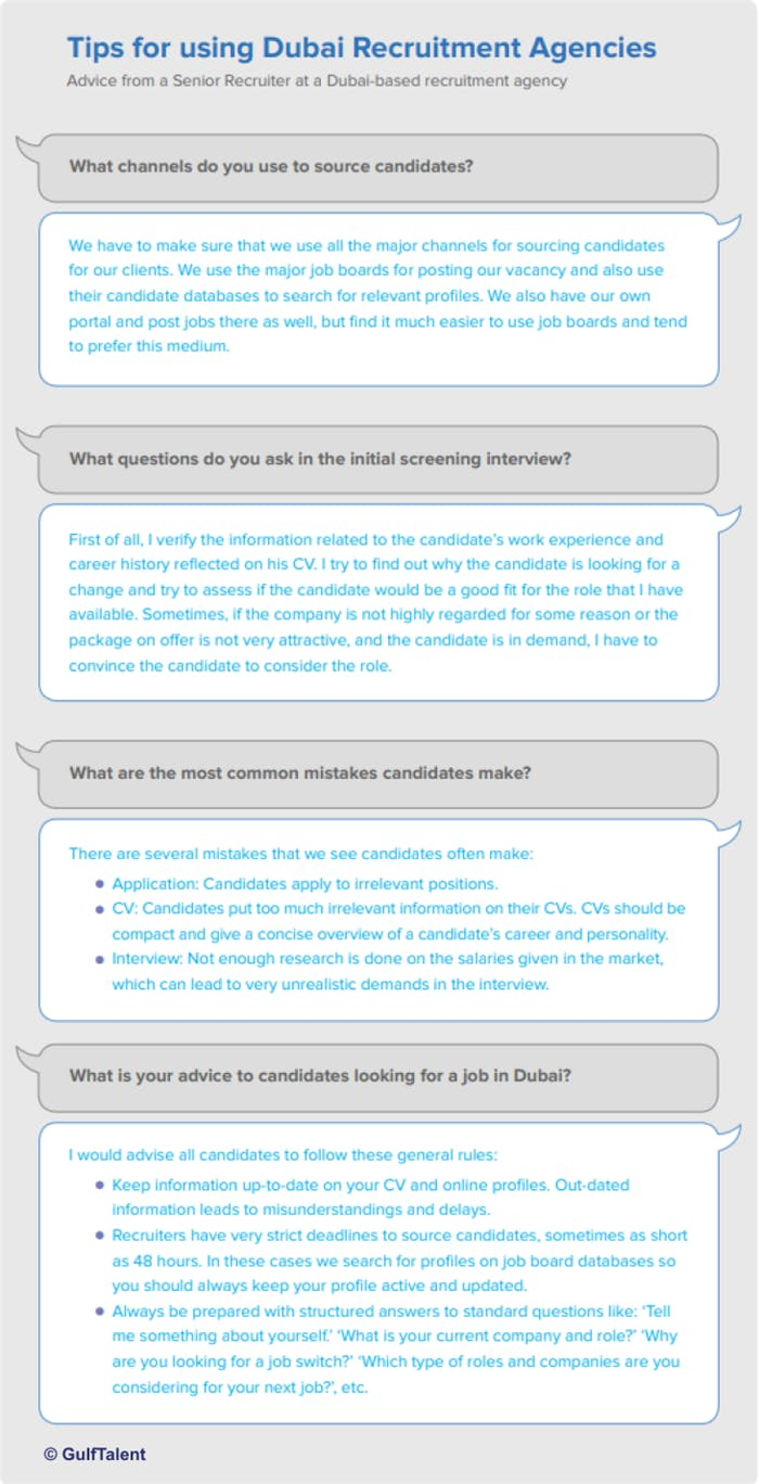 Tips for using Dubai Recruitment Agencies