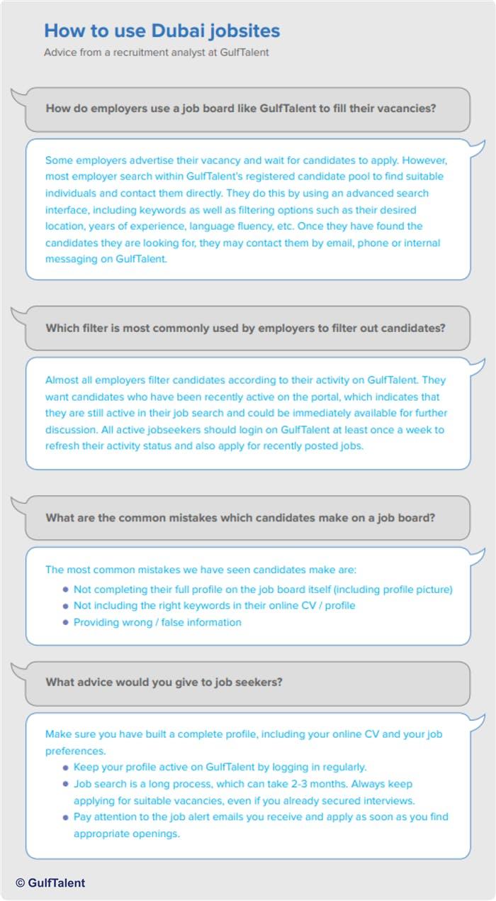 How to use Dubai jobsites