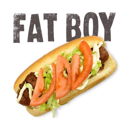 Fat Boy - Bacon wrapped all-beef dog deep fried, tomato, lettuce, mayo.