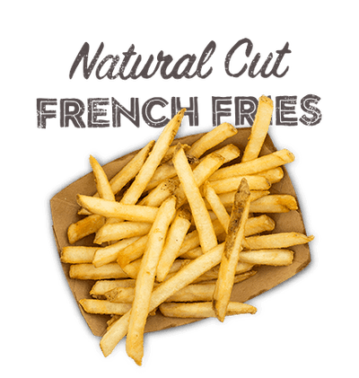 Natural Cut French Fries - Premium skin-on french cut fries.