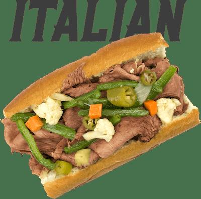 Italian Beef - MONDAY Thin sliced roast beef soaked in Italian au jus, sweet or hot pepper