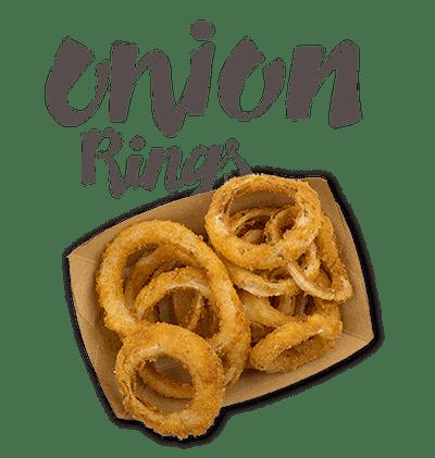 Onion Rings - Sweet onions dipped in crispy Panko batter.