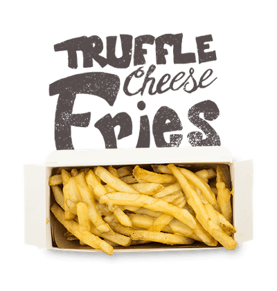 Truffle Cheese Fries - Natural cut fries with truffle cheese sauce.