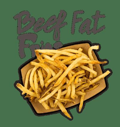 Beef Fat Fries - Fresh cut Castle Rock potatoes, double fried crispy!