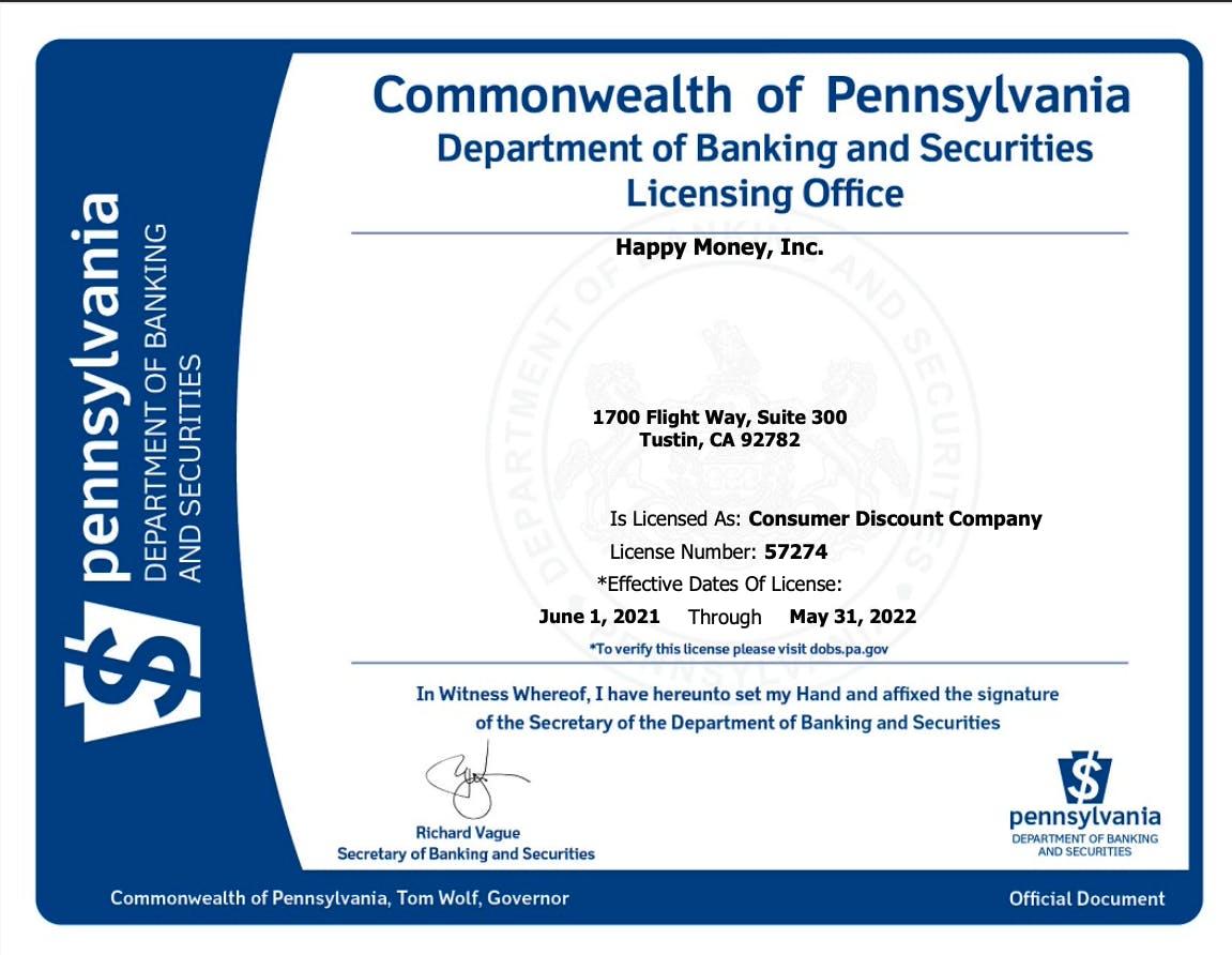 Thumbnail of license PDF