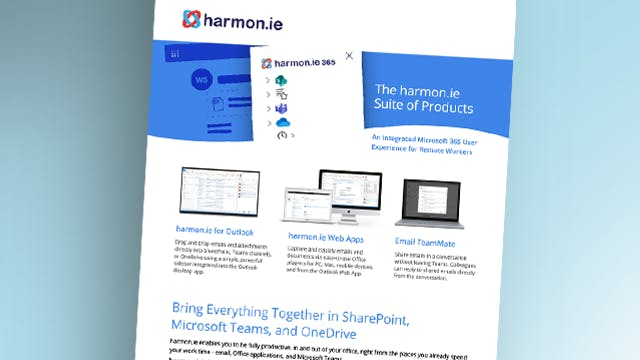 harmon.ie suite of products