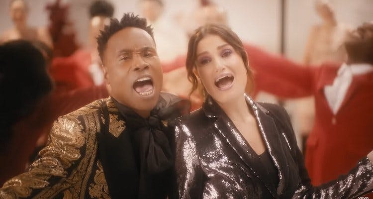 Billy Porter and Idina Menzel team up for a catch Christmas tune