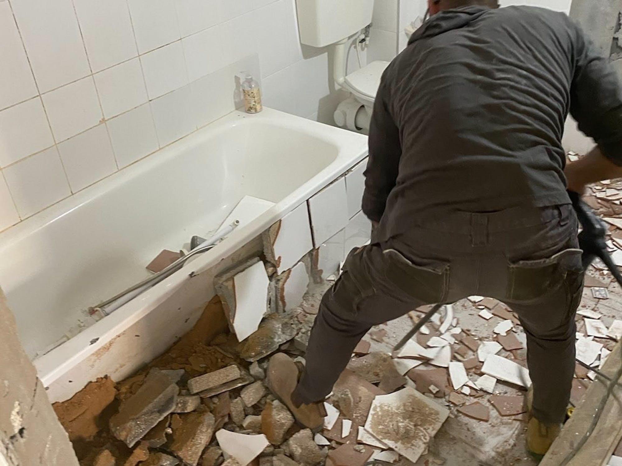 Demolishing day in HH