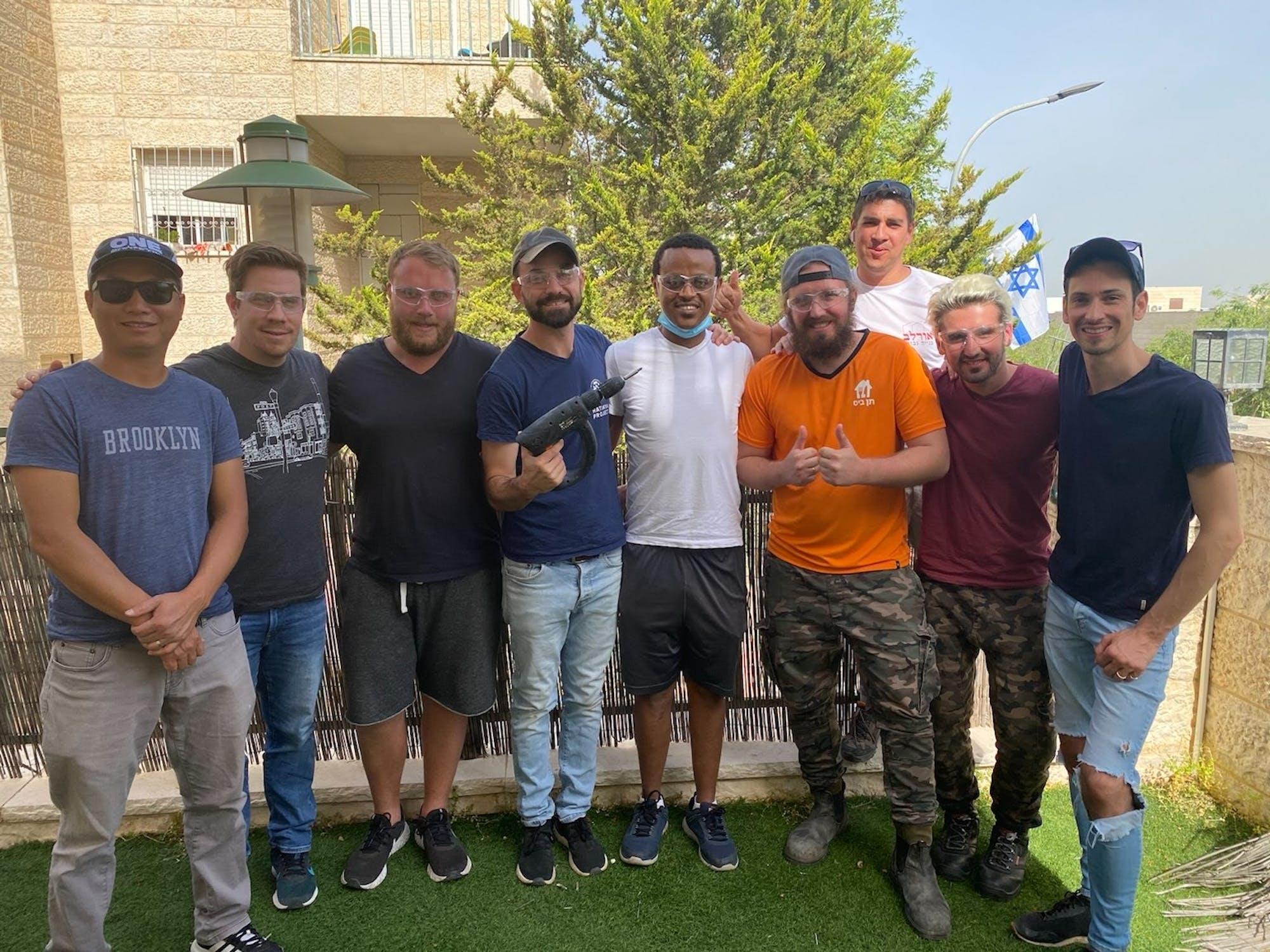 Our volunteers in HaTikva House