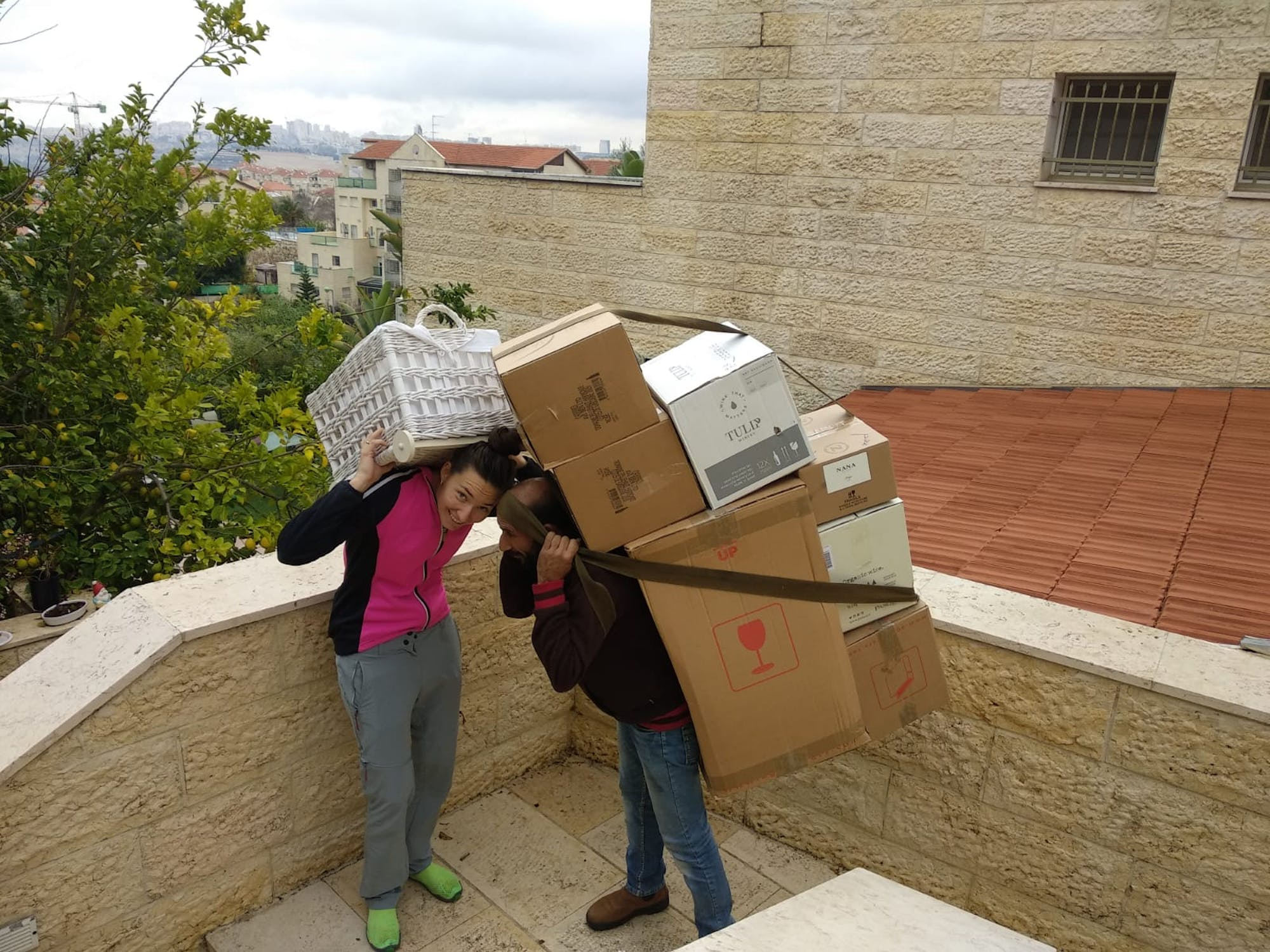 Helping foster parents to move to a new house