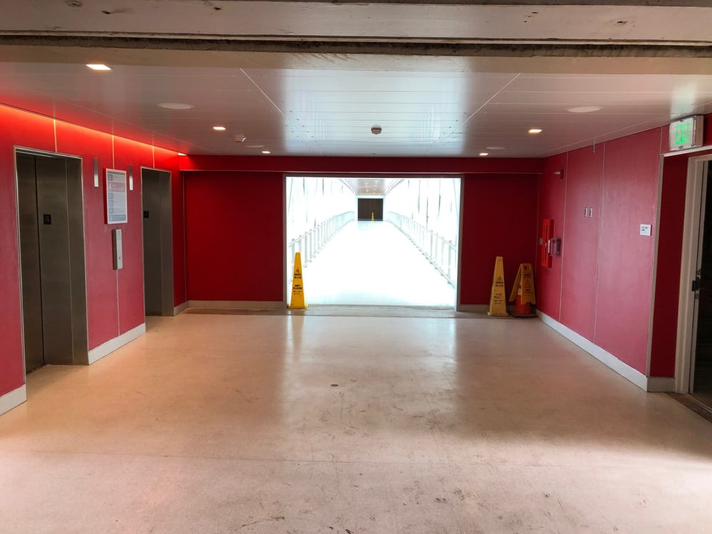Elevator Lobby at Terminal 2 Garage