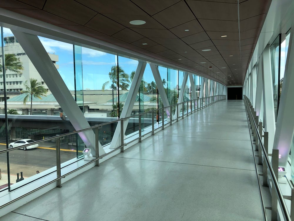 Ewa Pedestrian Bridge Interior