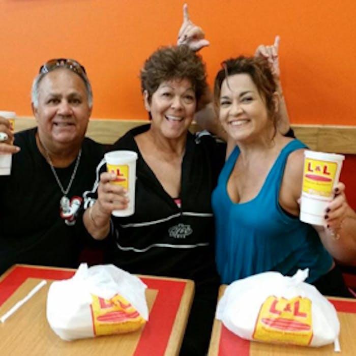 Three happy customers.
