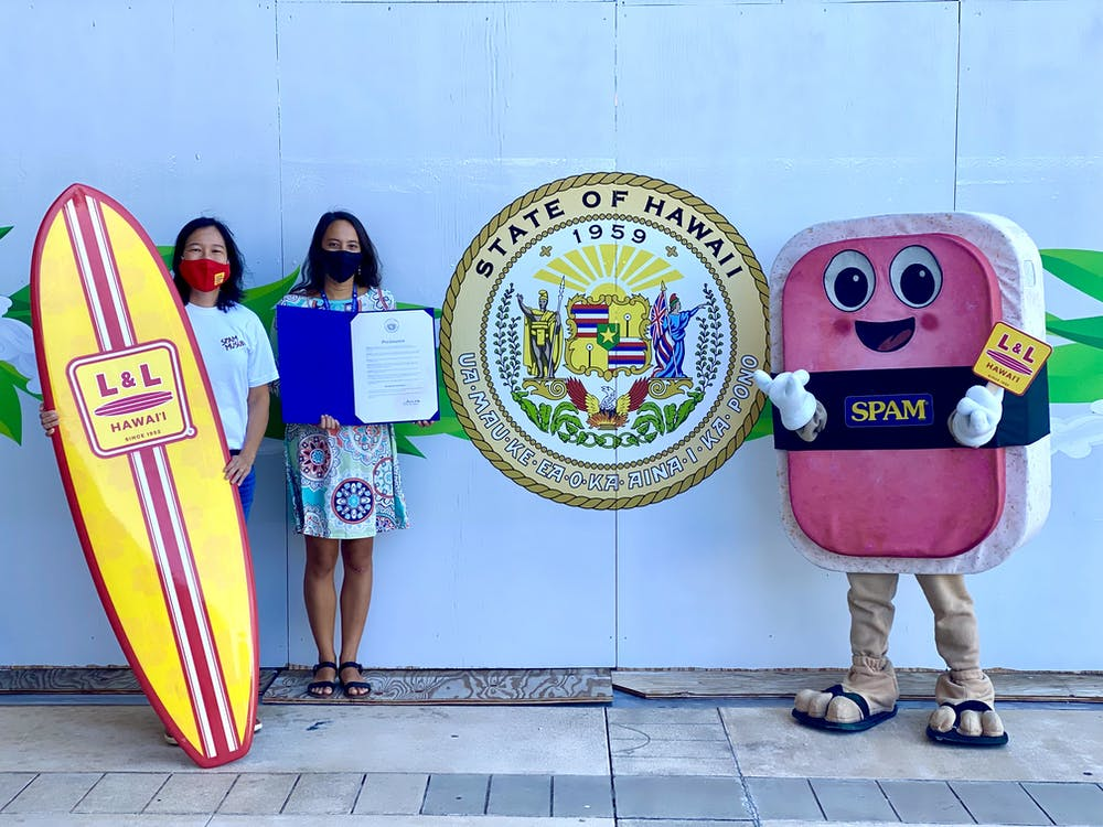 The Hawaii State proclamation declaring 8/08 as National SPAM® Musubi Day in Hawaii!