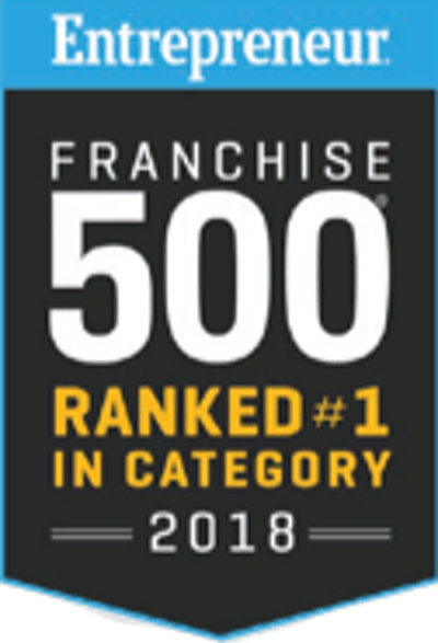 Entrepreneur Franchise 500 - Ranked #1 in category (2018)
