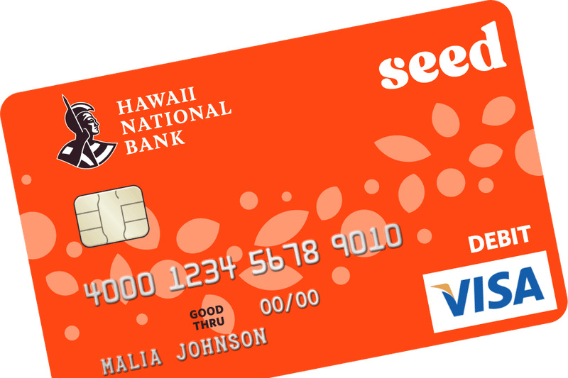 Hawaii National Bank Seed card
