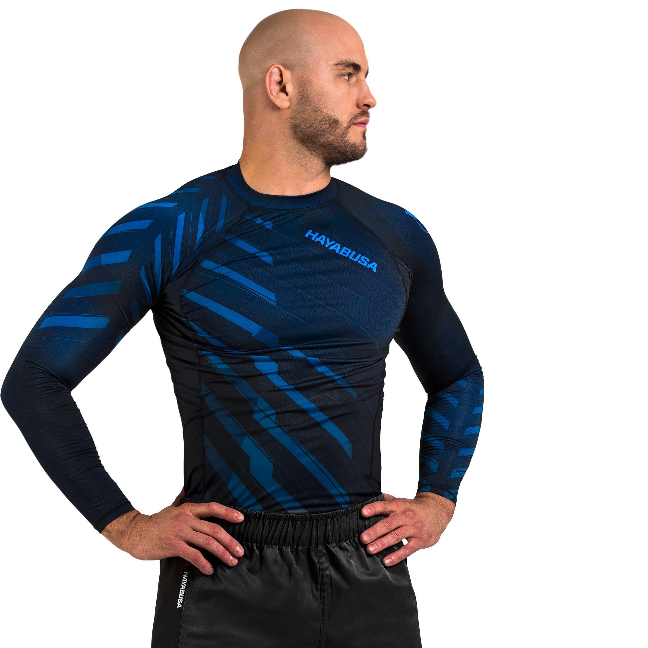 Hayabusa Metaru Charged Long Sleeve Brazilian Jiu Jitsu Rash Guard Shirt