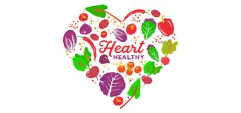 Red peppers, radishes, and red potatoes for heart health