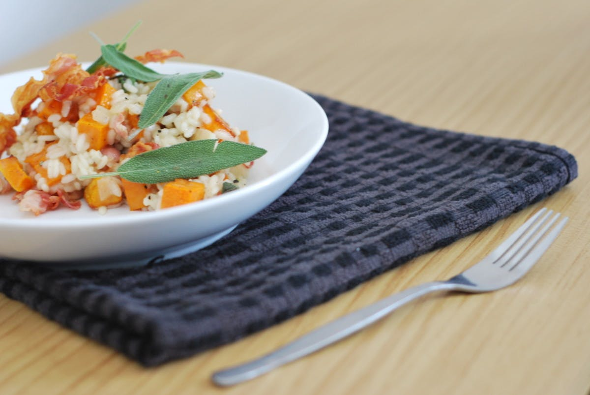 Butternut Squash and Pancetta Risotto & the Launch of Heart + Bowl!