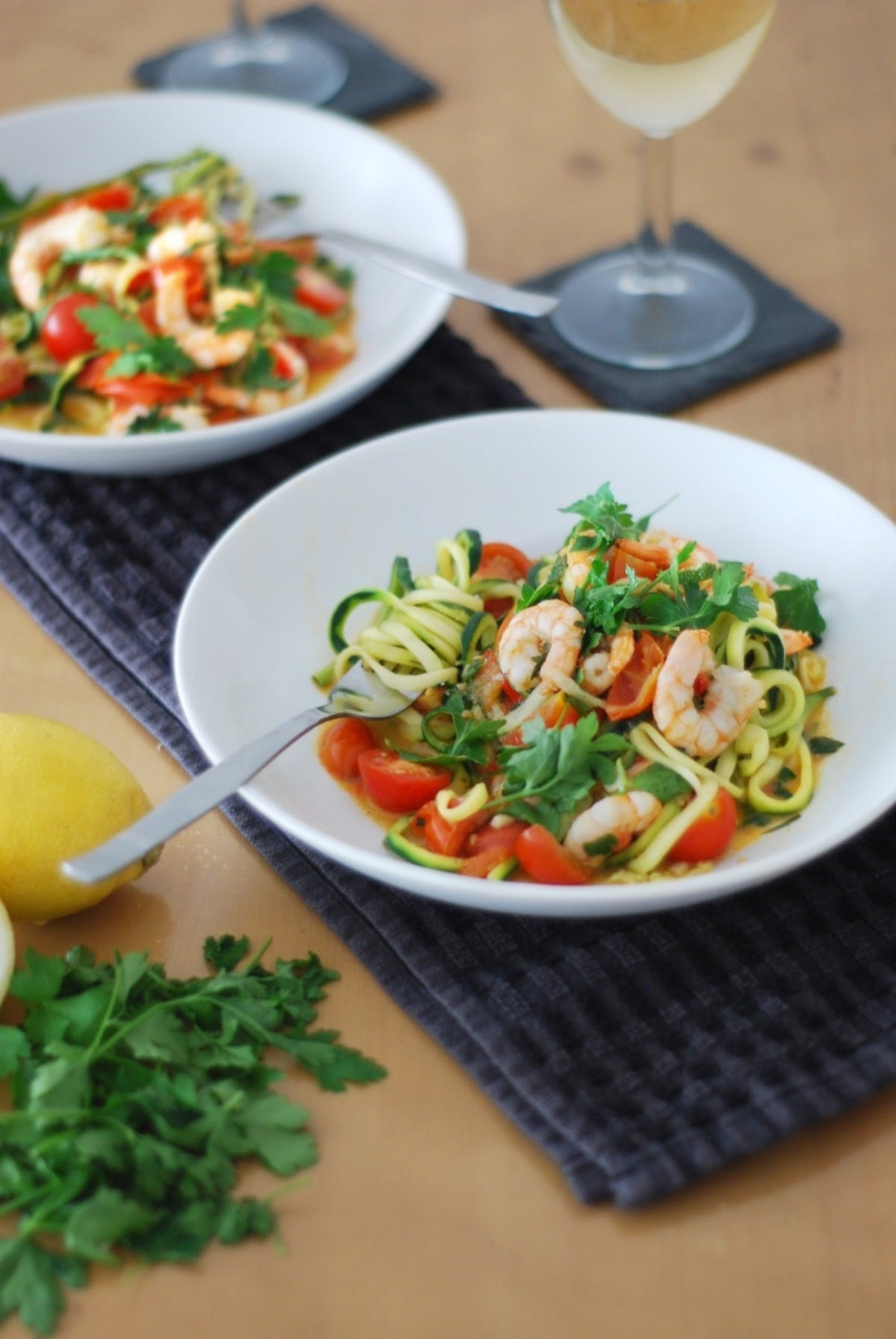 Summer King Prawn Courgetti