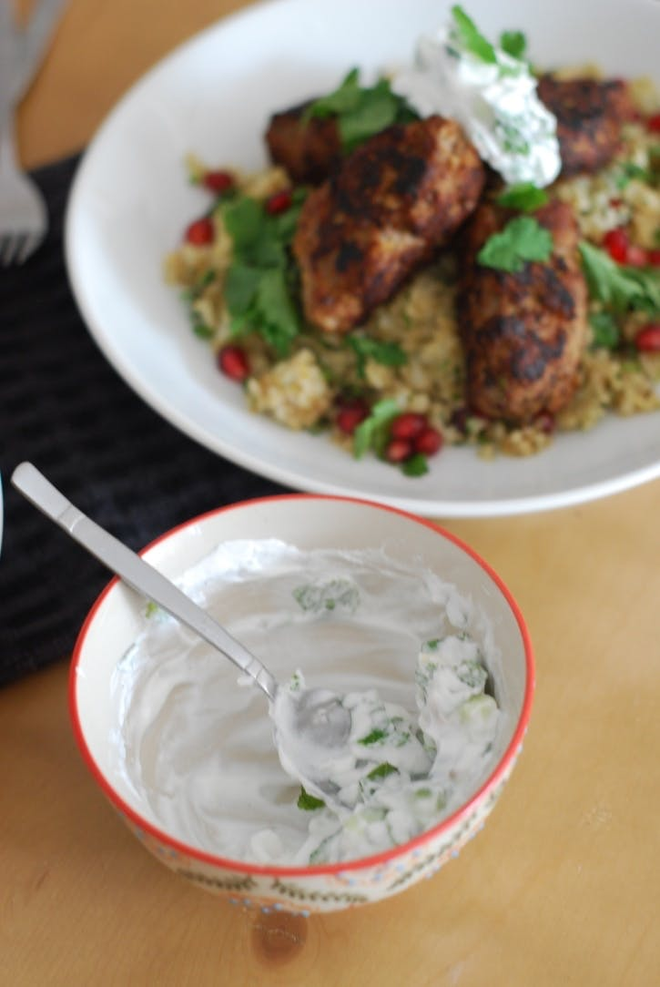 Lamb Koftas with Cauliflower 'Cous Cous'