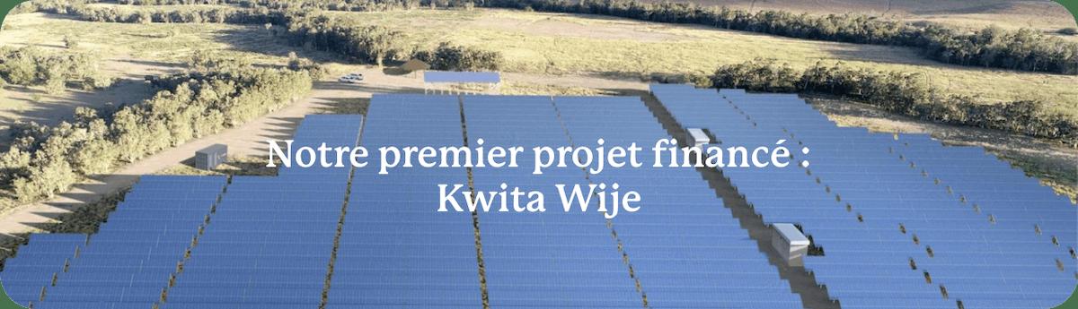 Vous pouvez déjà découvrir le premier projet que nous avons participé à financer sur le Billet Vert.