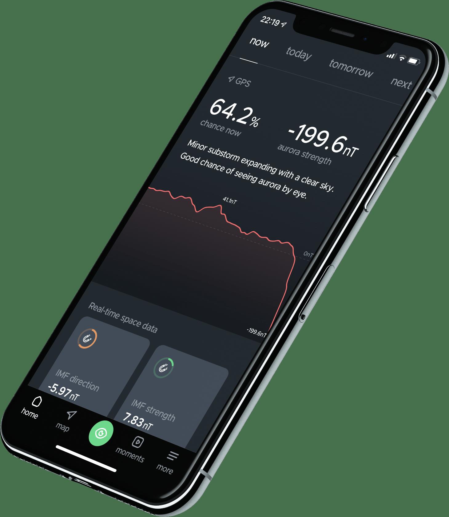 hello aurora interface within an iPhone