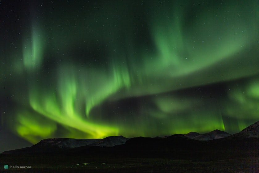 Northern Lights above the mountain