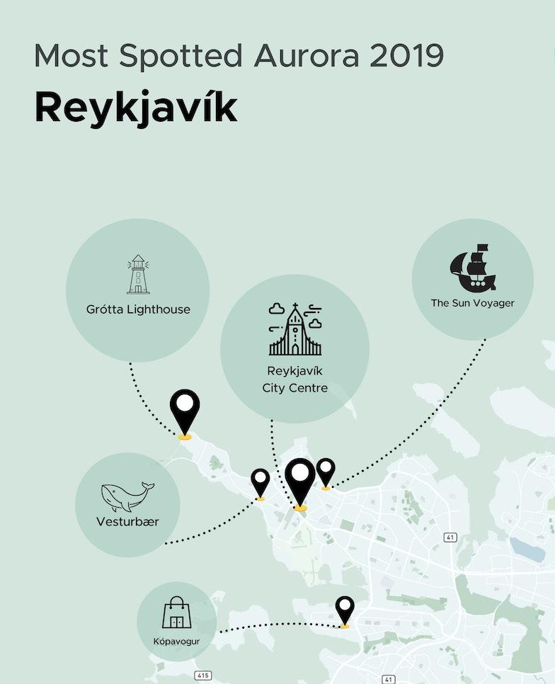Northern Lights Locations in Reykjavik