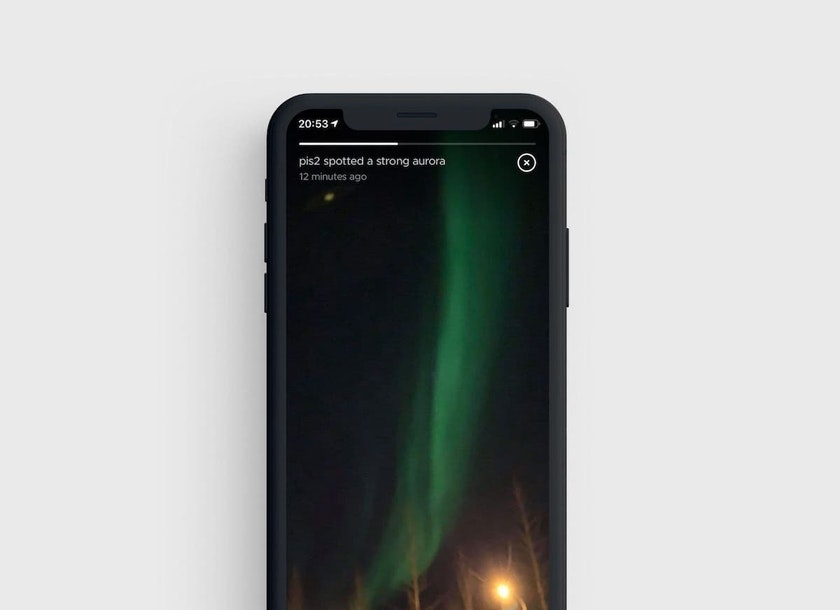 Your aurora moment is now shared with other people