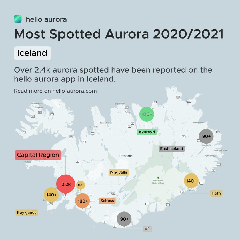 Where to see the aurora in Iceland