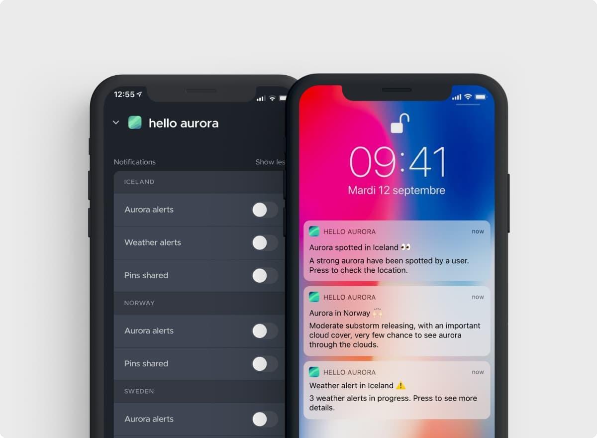 Aurora notifications