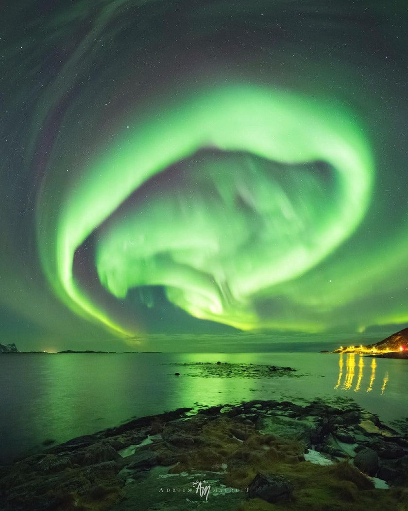 Stunning aurora over Tromso. Photo by @NightLightsFilms