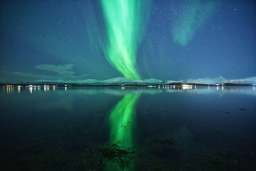 The reflection of aurora make the scene even more beautiful. Photo by @dancromb, dancromb.co.uk