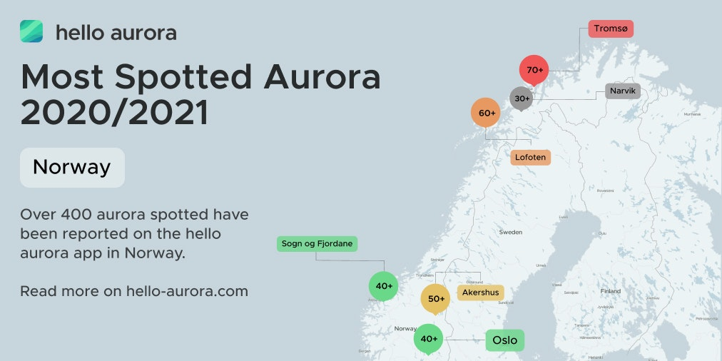 Northern Lights Location in Norway 2020 to 2021's cover picture