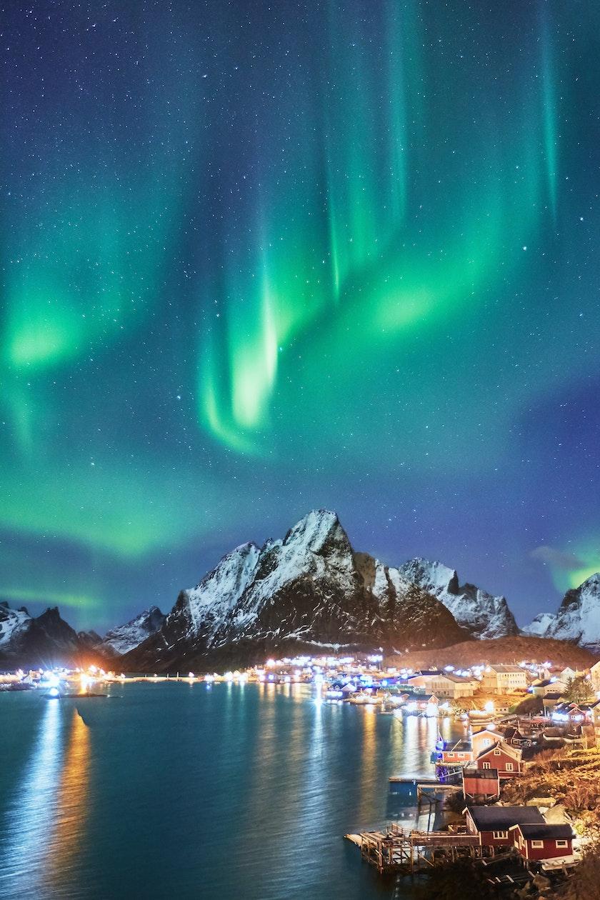 Picture of aurora in Lofoten. Photo by Johny Goerend on Unsplash