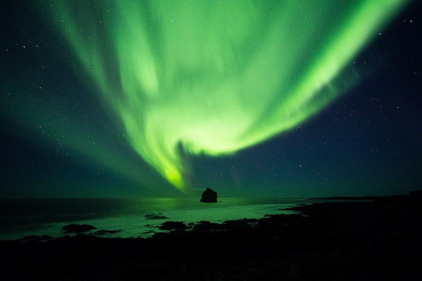 One of Jeroen's favourite aurora picture from Reykjanes. Photo by Jeroen @jvn.photo