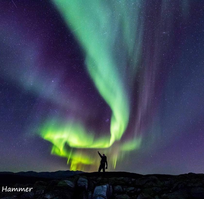 Amazing aurora photo by Geir Lia Hammer @hammer_foto