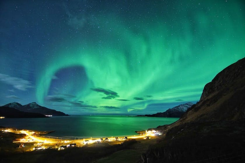 Northern Lights over Tromso. Picture by @dancromb, www.dancromb.co.uk