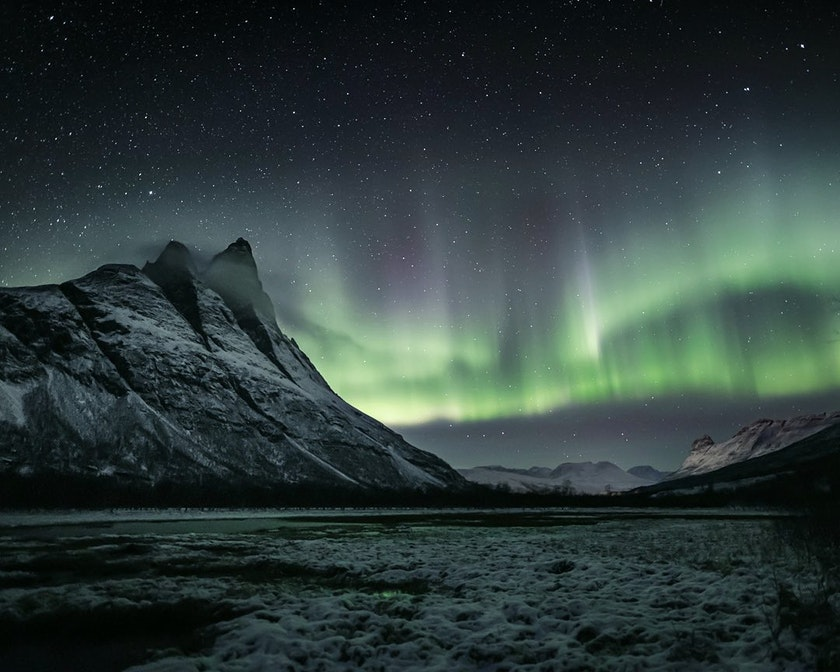 Timo's favourite Northern Lights photo at Otertinden, photo by @timoksanen