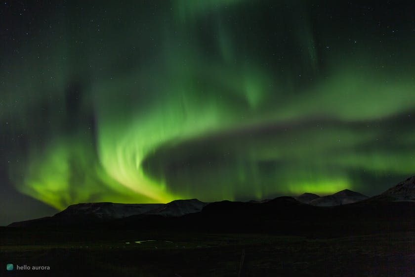 You can see the aurora in Iceland from late August to beginning of May