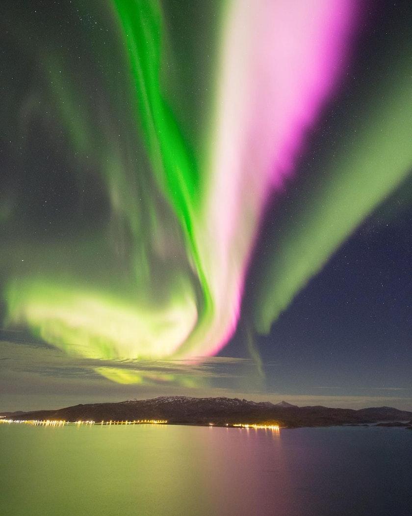 Stunning aurora show in Northern Norway. Photo by @NightLightsFilms