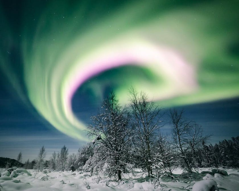 Timo's all time favourite Northern lights at Ylläs, photo by @timoksanen