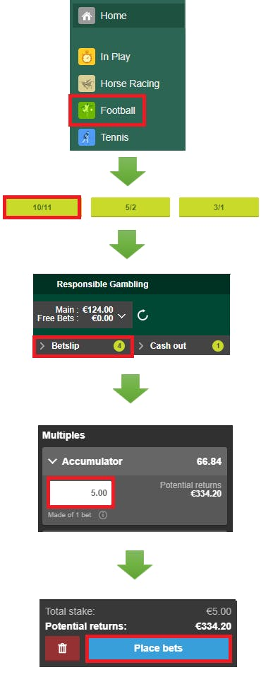 how to place accumulator bet on paddy power