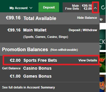 How to use free play balance on sports betting betting odds 2 to 1