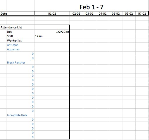 using excel to create employee scheduling template