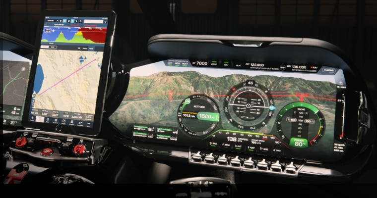 HX50 digital cockpit - Hill Helicopters