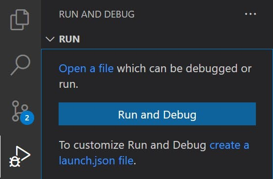 VS Code Run and Debug